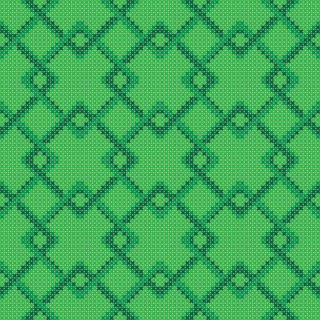 cross stitch: Cross stitch square geometric pattern seamless Illustration