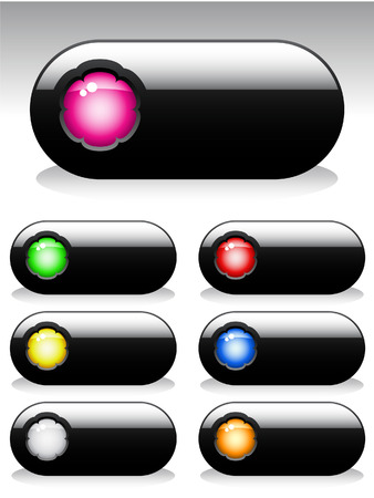 web buttons: Set of buttons for web design. Vector