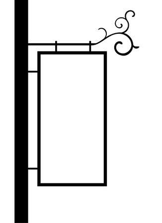 old-fashioned street notice board vector