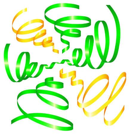 set of holiday ribbon. Vector illustration Illustration