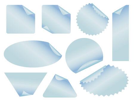 set of stickers vector