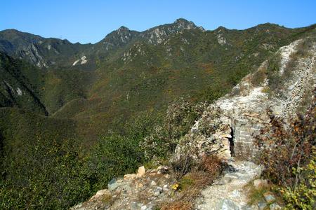 feats: Great Wall of China. Beijing Stock Photo