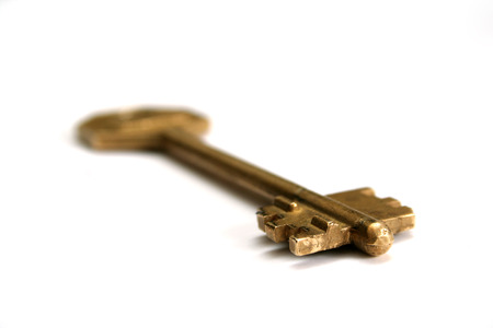 openly: One key on a white background