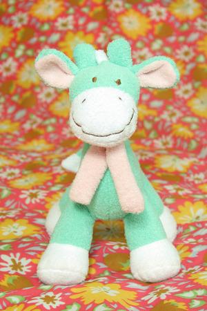soft toy: soft toy green giraffe ore horse