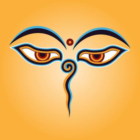 Boeddha ogen Vector