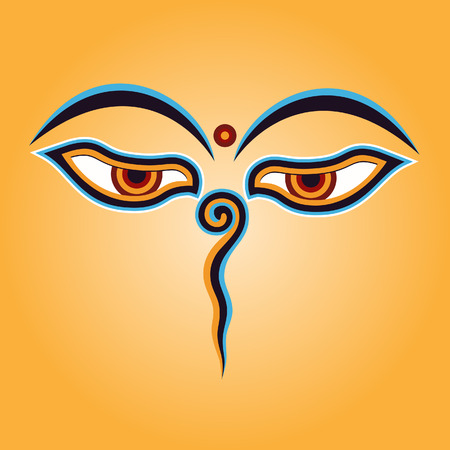 Buddha eyes Vector Иллюстрация