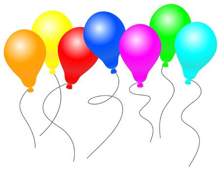 dazzling: Beautiful rainbow balloons. Vector Illustration