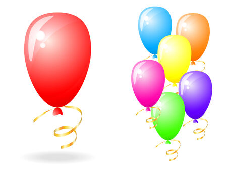 festive occasions: set of balloons