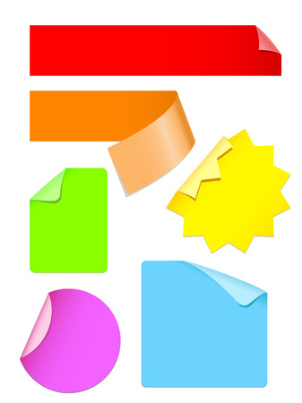 set of colorful stickers vector