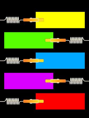 color paper: Papel de color blanco Vectores