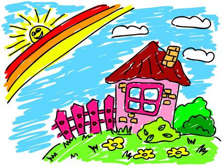 trawl: house under rainbow