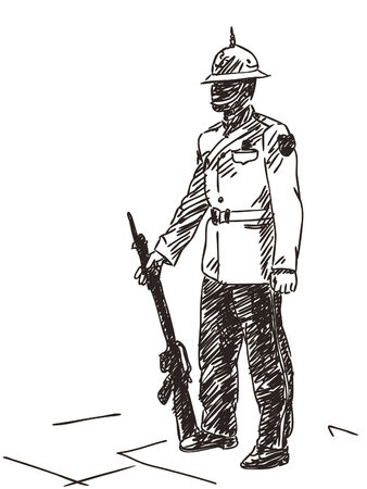 hand guard: Hand drawn guard