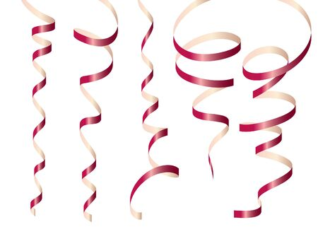 voluptuous: party ribbon vector illustration Illustration