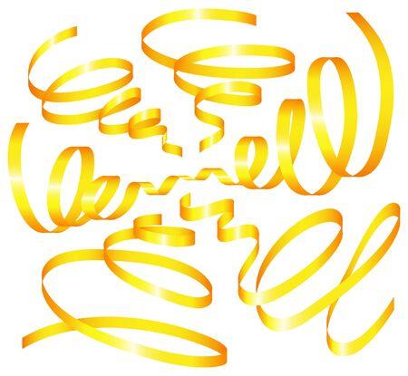 voluptuous: set of holiday ribbon. Vector illustration Illustration