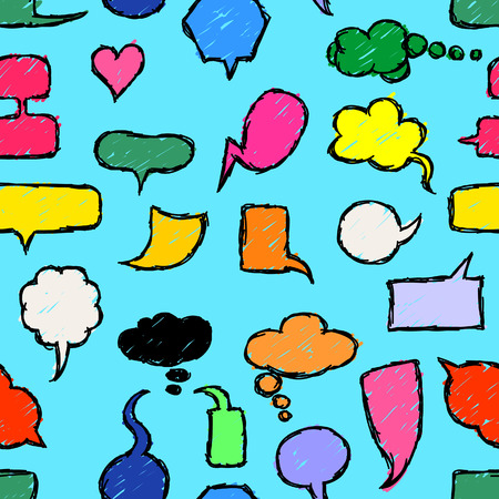 free thought: Seamless background Hand Drawn Speech Bubbles