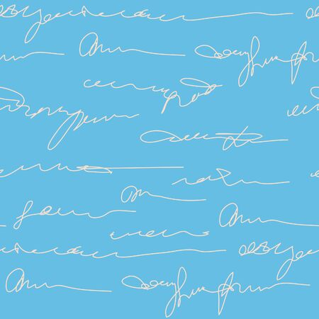 signatures: Abstract seamless background with signatures