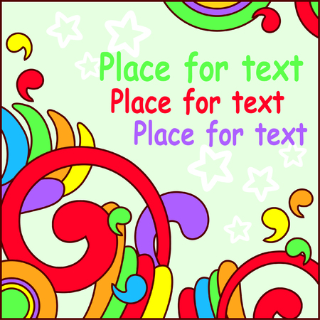 fun colored background with free space for text