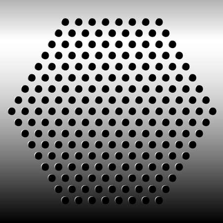Metal texture with holes Vector