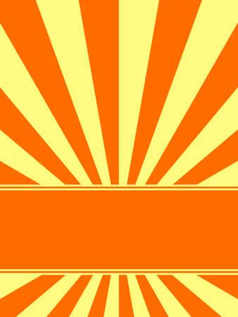 Sunburst background with place for text Ilustração