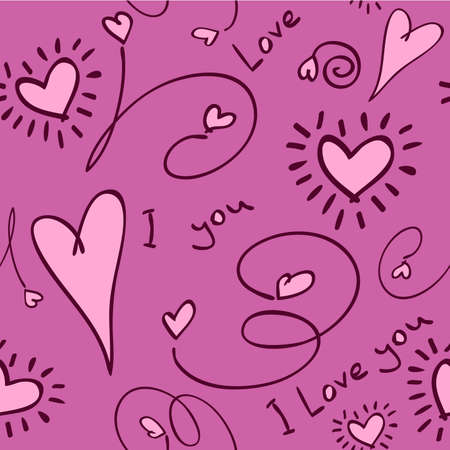 Seamless love background Vector