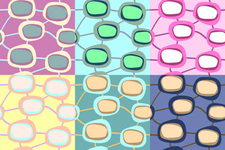 Seamless abstract pattern in different colors