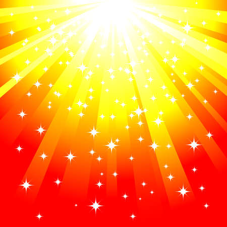 magic yellow background vector Ilustração