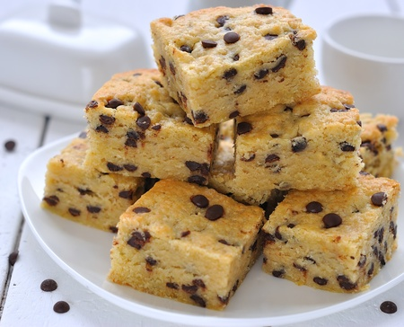 Cookies Blondies with chocolate drops
