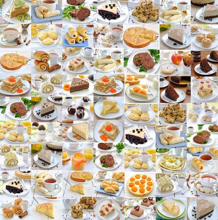 Photo collage of food