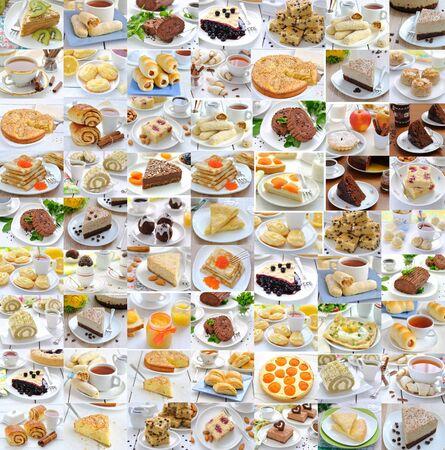 음식의 사진 콜라주