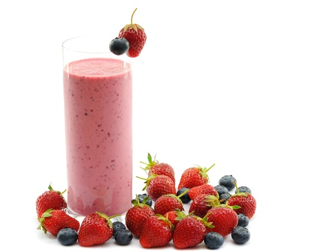 Smoothie with strawberries Stock Photo