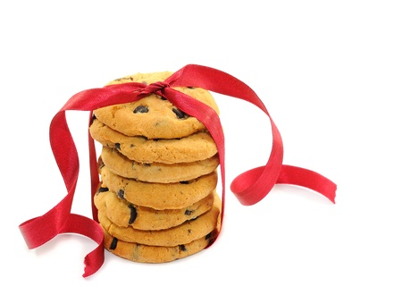 Cookies with chocolate chips photo