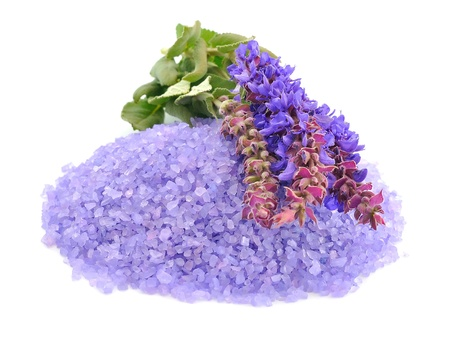Sea salt with lavender photo