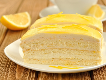 lemon cakes Stock Photo