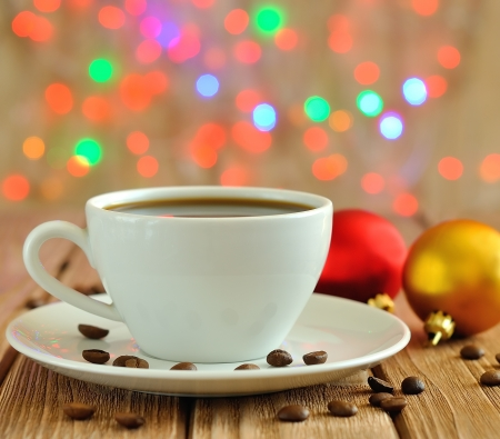 red bean:  Christmas cup of coffee