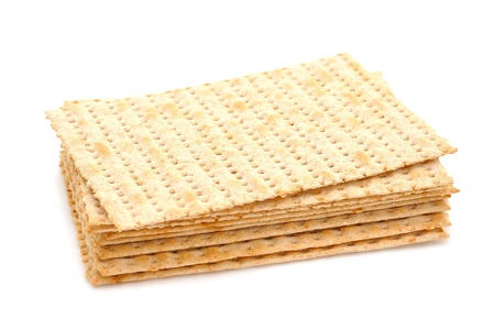 Matza isolated on white background photo