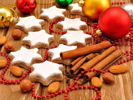 Christmas star cookies with cinnamon Stock Photo - 15362068