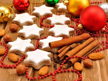 Christmas star cookies with cinnamon Stock Photo - 15362068