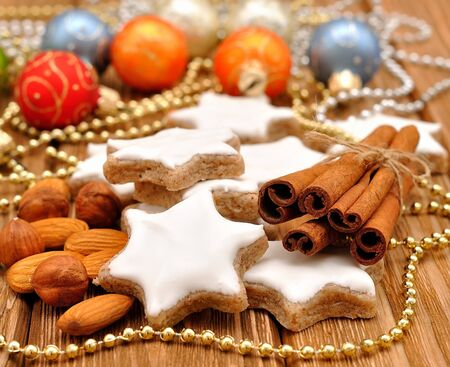 Christmas star cookies with cinnamon Stock Photo - 15362067