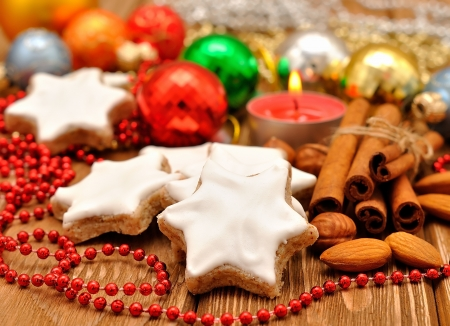 german food: Christmas star cookies