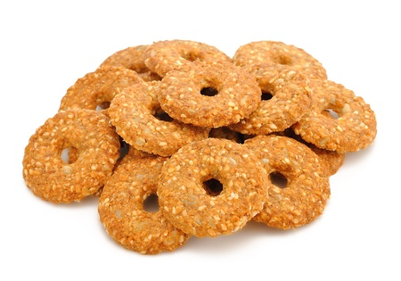 substitute:  Dietetic cookies isolated on white background
