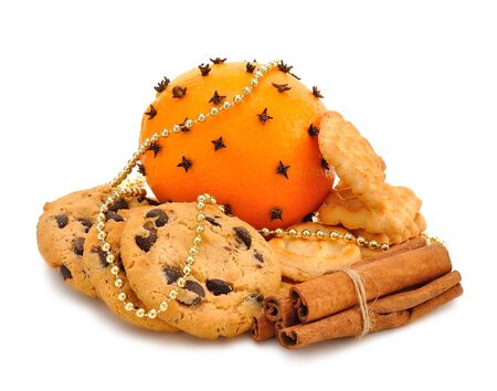 Christmas cookies, orange and cinnamon Stock Photo - 15554119