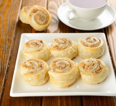 Rolls with nut filling Stock Photo - 16566278