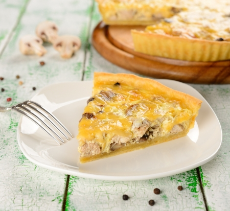 French tart with mushrooms and cheese Stock Photo - 16607985