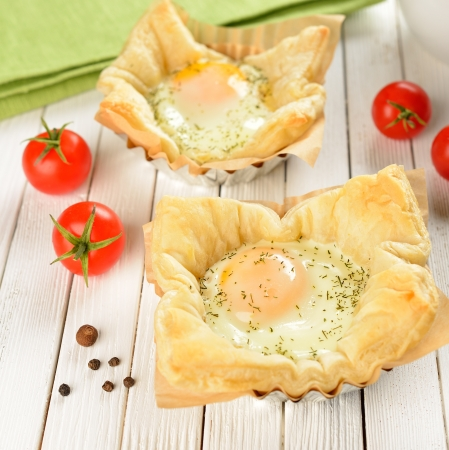 Scrambled Eggs in Puff Pastry photo