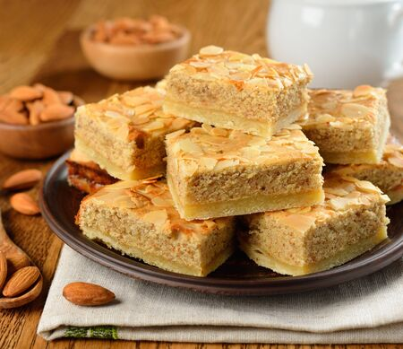 almond cakes on a brown table Stock Photo - 17730317