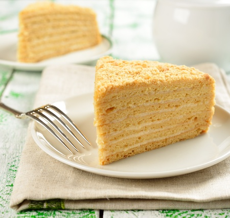 Traditional Russian honey cake