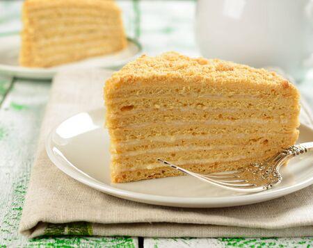 Traditional Russian honey cake Stock Photo - 17730325