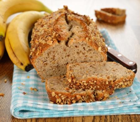 banana bread: Banana bread on a brown table