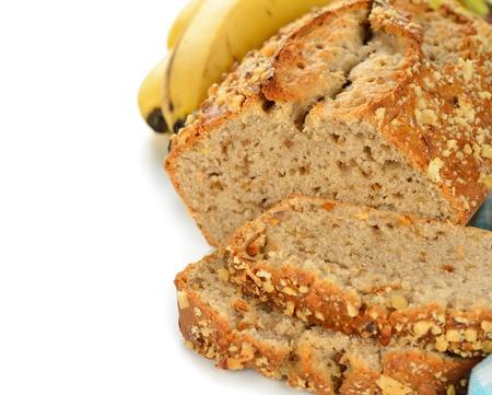 banana bread: Banana bread on a white background