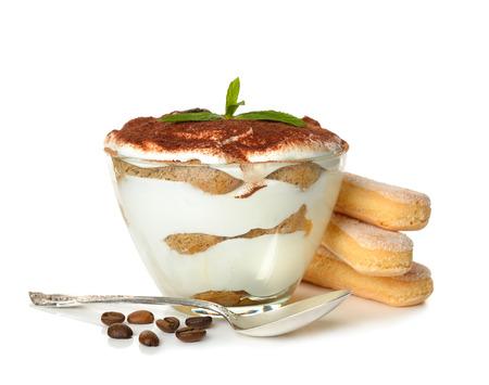 tiramisu: dessert tiramisu isolated on white background
